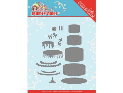 Šablona kovová vyřezávací Slavnostní dort