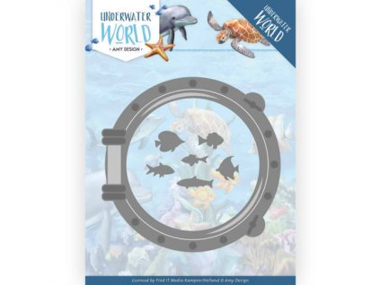 Šablona kovová vyřezávací Lodní okénko a ryby