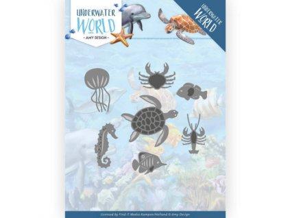 Šablona kovová vyřezávací Podmořská fauna