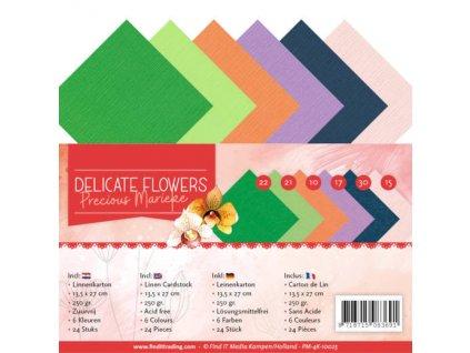 Sada papírů Jemné květinky