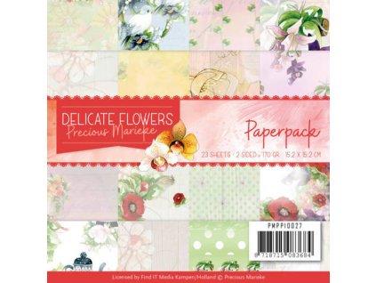 Sada papírů Jemné květiny