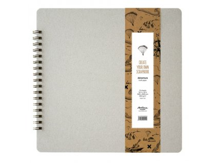 Scrapbook album kroužkové Adventure kraft 30x30cm