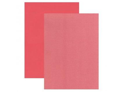 Barevný papír perleťová texturovaná čtvrtka tmavě růžová