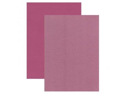 Barevný papír perleťová texturovaná čtvrtka borůvka