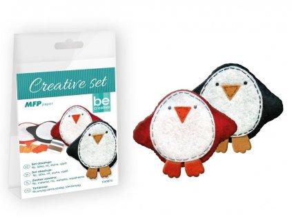 Sada na šití z filcu tučňáci