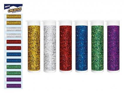 Třpytky sada různých barev 12 kusů
