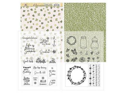 Jednostranné a transparentní papíry Květinové léto