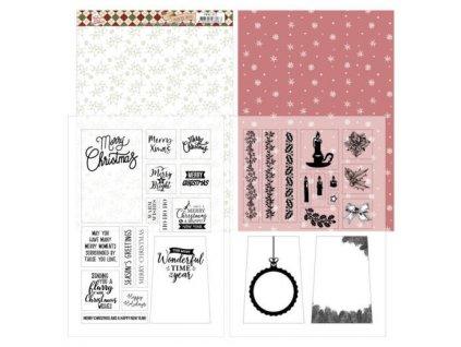 Jednostranné a transparentní papíry Vánoční pocity
