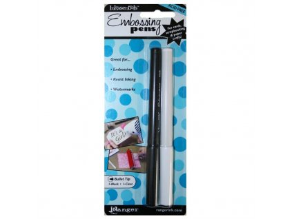 Embosovací pera 2x - tužka čirá a černá