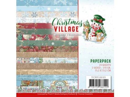 YCPP10033 sada papírů Vánoční vesnice