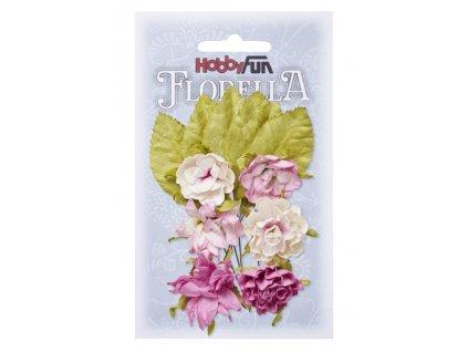3866085 květy a listy růžové