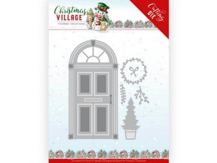 YCD10210 kovová šablona vánoční dveře