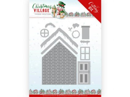 YCD10209 kovová šablona postav dům