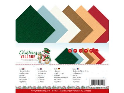 YC A5 10020 sada papírů váneoce Village