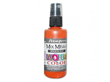 stamperia aquacolor spray 60ml iridescent orange k