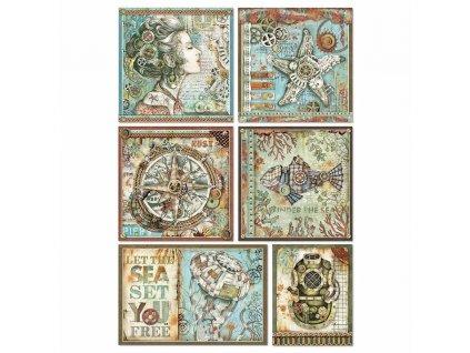 dfsa4434 Stamperia rýžový papír steampunk kartičky