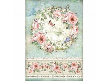 dfsa4445 Stamperia rýžový papír Květinová koule