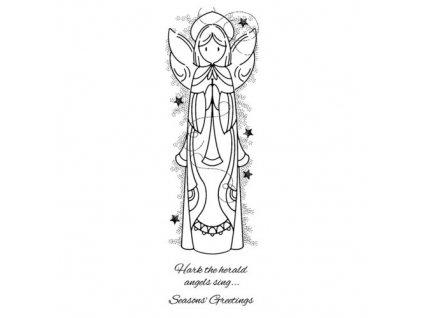 FRS402 nebeský anděl silikonové gelové razítko