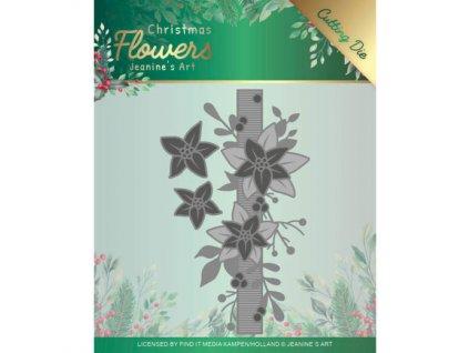Šablona bordura Vánoční hvězdy bordura