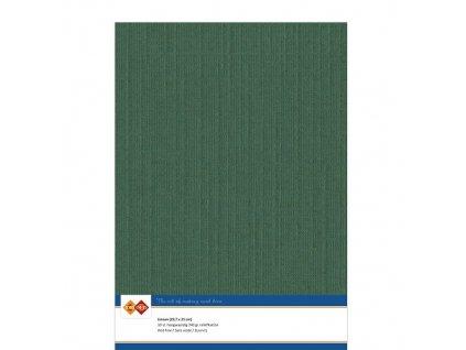 Barevný papír - texturovaná čtvrtka vánoční zelená