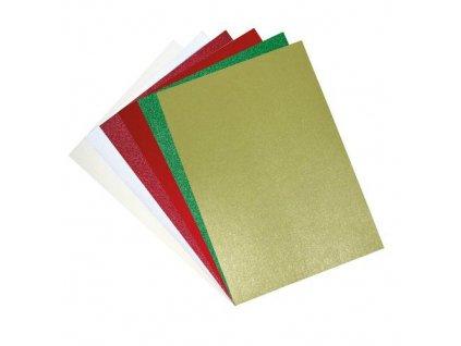 664694 6 třpytivý papír vánoční červerný třpytivý