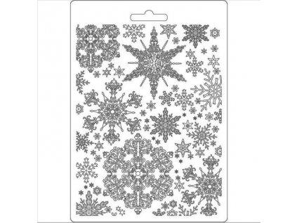 K3PTA556 sněhové vločky šablona