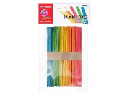 PM024 barevné dřevěné špachtle dřívka 50ks