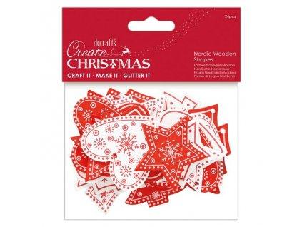 PMA 174956 černobílé vánoční dřevěné motivy