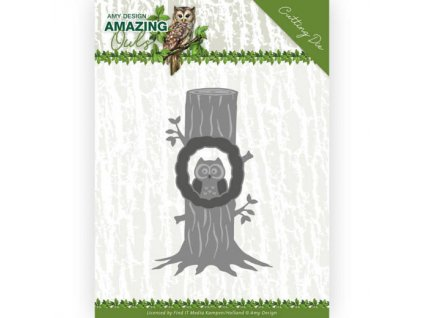 ADD10216 vyřezávací šablona sova ve stromě