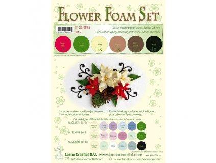 Pěnovka na výrobu květin Vánoční barvy