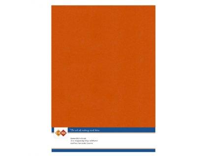 Barevný papír - texturovaná čtvrtka podzimní oranžová