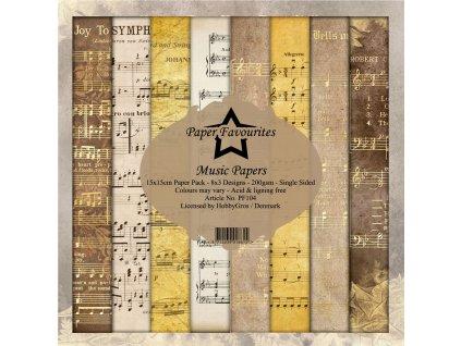 PF104 Sada papírů Music Papers