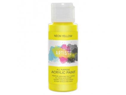 DOA 766074 akrylová barva neonová žlutá