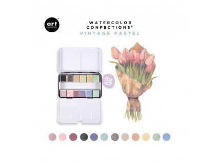Akvarelové barvy pastelové 12 barev