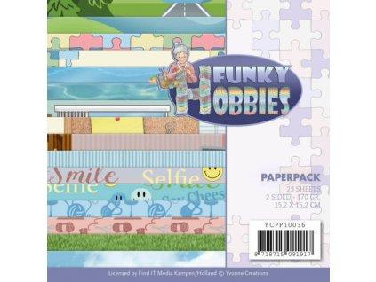 ycpp10036 sada papírů Funky Hobbies