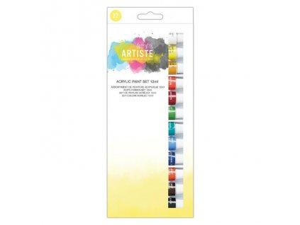sada akrylových barev artiste 12 kusů