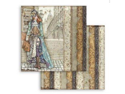 SBB761 scrapbookový papír Lady Vagobond