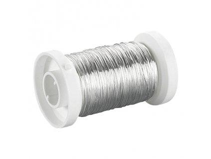 Drátek kulatý měděný 0,25mm stříbrný
