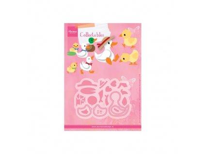 COL1428 3 vyřezávací šablony kachní rodinka