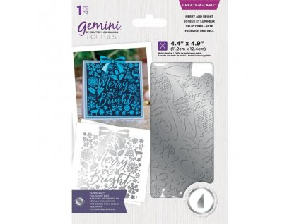 gemini merry and bright create a card foil stamp