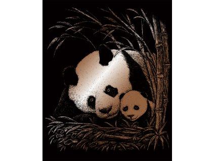 COPF24 škrábací měděný obrázek pandy
