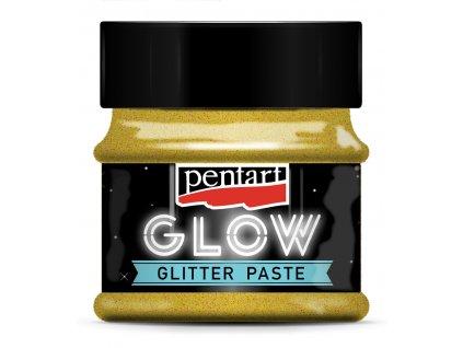 3606 pasta svítící ve tmě glitrová zlatá zelená