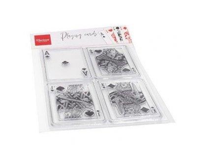 cs1055 silikonová gelová razítka hrací karty