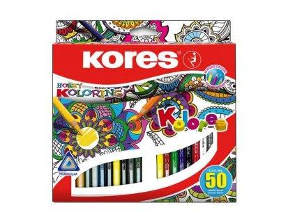 Pastelky Kores Mandala 50 barev