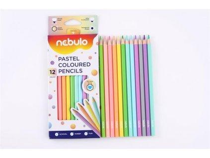 pastelky pastelové NEBULO 12ks 2