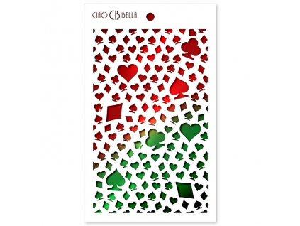 flexibilní plastová šablona karty