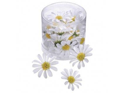 látkové květiny kopretiny
