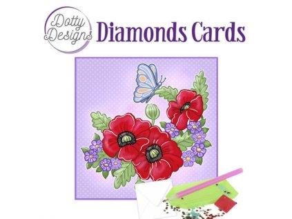 Obraz a přání z kamínků malý Máky a motýl