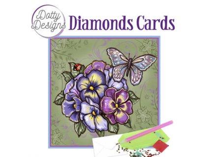 Obraz a přání z kamínků malý Macešky a motýl