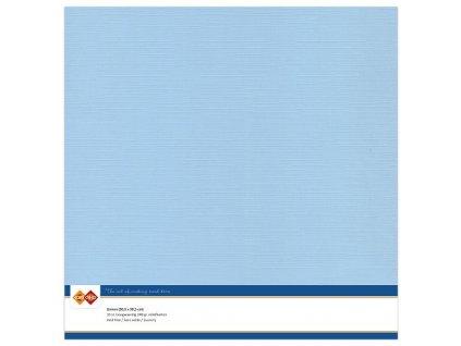Barevný papír texturovaná čtvrtka nebesky modrá 30x30cm